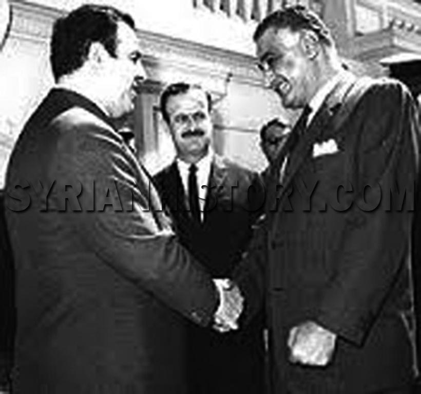 التاريخ السوري الصورة الوحيدة الجامعة بين الرئيس جمال عبد الناصر