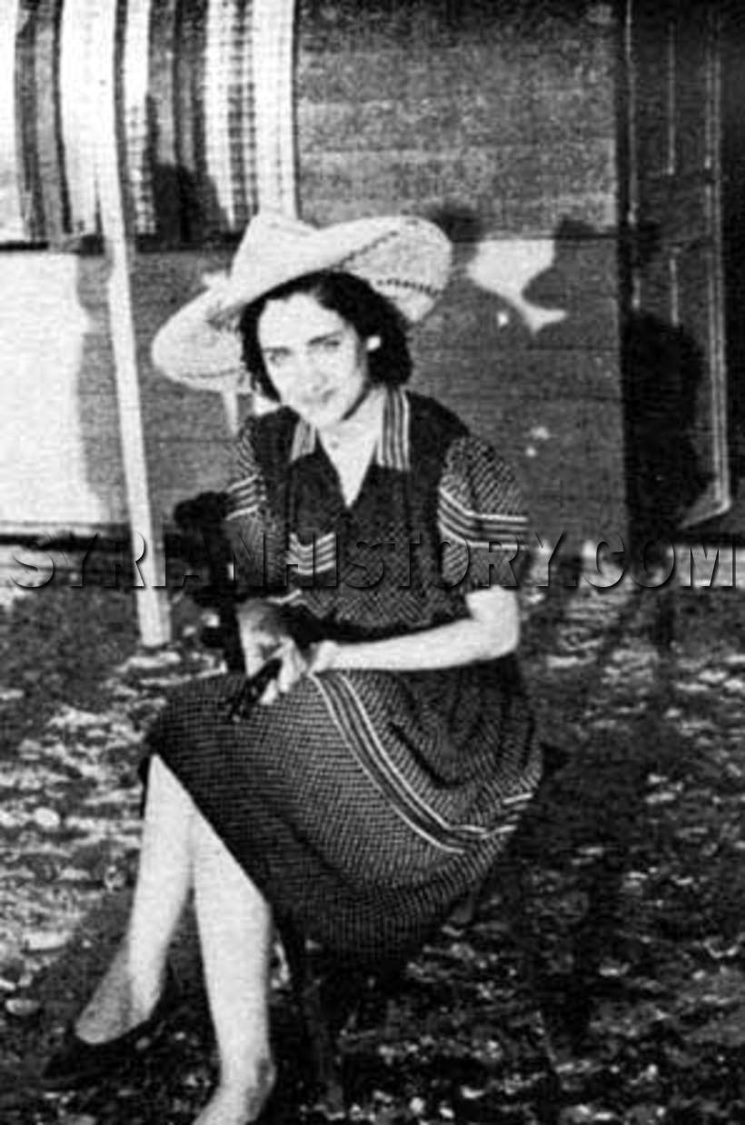 Syrian History - The Syrian singer Asmahan (1912-1944) in